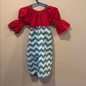 Cute chevron tie back dress
